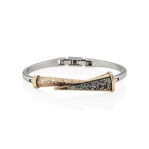 Amulet Hinged Bangle Bracelet